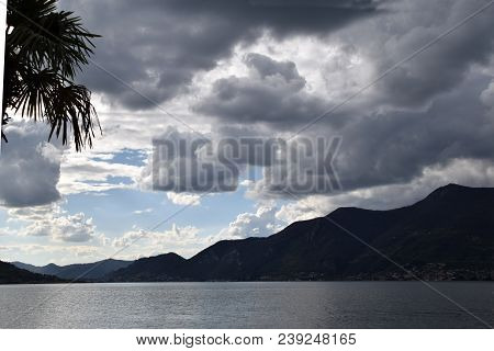 View Of The Lakefront Of  Iseo On A Stormy Day 017