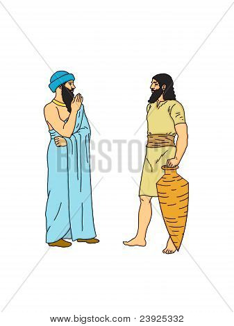 Two Persian. The agreement of two Persian traders. poster