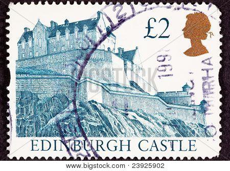 Edinburgh Castle, Scotland Hilltop Fortress Wall
