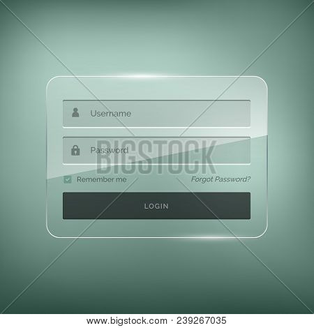 Glossy Stylish Login Form Design With Username And Password