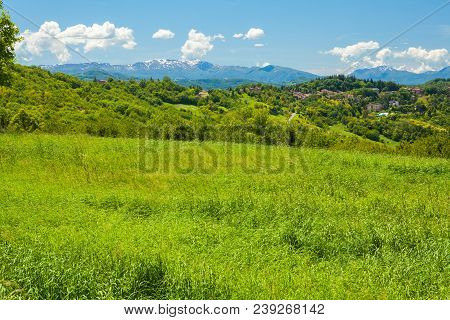 Hills And Italian Apennines On A Sunny Day Italy