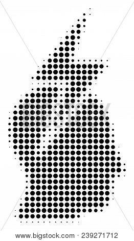 Pixel Black Person Stress Strike Icon. Vector Halftone Composition Of Person Stress Strike Symbol Cr