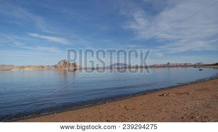 Lake Powell Landscape And Scenery In Page, Arizona. Photo Taken November, 2017.