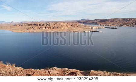 Lake Powell Landscape In Page, Arizona. Photo Taken November, 2017.
