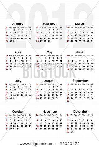 Calendar 2012-english