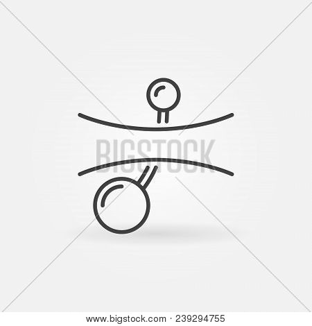 Belly Button Piercings Outline Icon. Vector Navel Piercing Concept Symbol In Thin Line Style