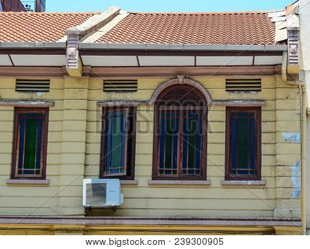George Town, Malaysia - Mar 10, 2016. Old House In George Town, Malaysia. Established In 1786, The T