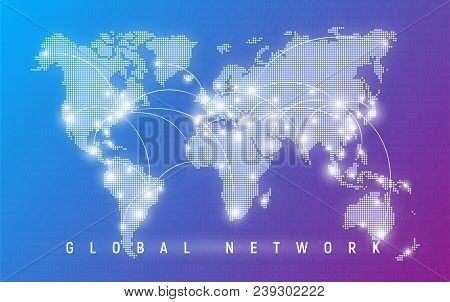 Global Network, Worldwide Communication And Connections, International Business, Digital Technologie