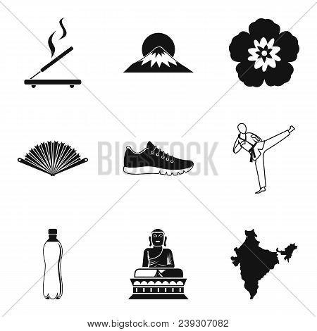 Spiritual Balance Icons Set. Simple Set Of 9 Spiritual Balance Vector Icons For Web Isolated On Whit