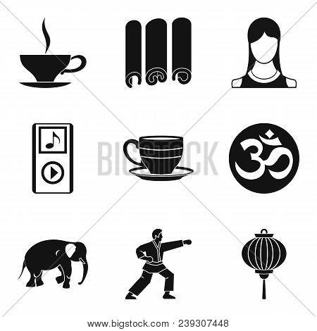 Spiritual Equilibrium Icons Set. Simple Set Of 9 Spiritual Equilibrium Vector Icons For Web Isolated