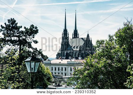 Cathedral Of St. Peter And Paul In Brno, Moravia, Czech Republic. Religious Architecture. Beautiful