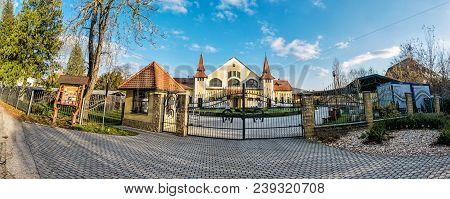 Historic Building Of National Stud Farm, Topolcianky, Slovak Republic. Architectural Theme. Travel D