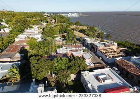 View From The Lighthouse Of The City Of Colonia Del Sacramento, Uruguay