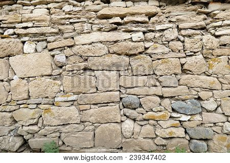 Classic Stone Wall, Old Stone Wall, Demolished Wall Turkish Classic Stone Wall, Old Stone Wall