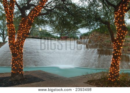 Water Fall In The Plaza