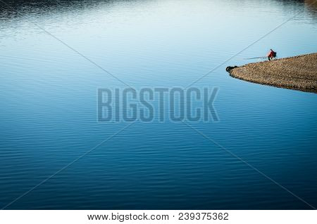 Sea Views And Fisherman, Background , Activity In Retirement In Nature, Peaceful Retirement In Natur