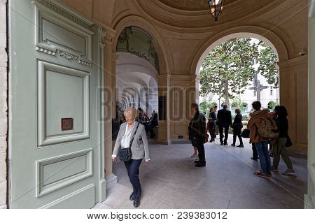 Lyon, France, May 4, 2018 : Inhabitants Of Lyon Discover New Hôtel-dieu Converted After 3 Years Of W
