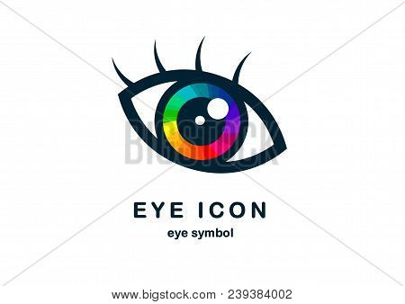 Eye Icon, Eye Symbol, Eye Logo Colorful Vector