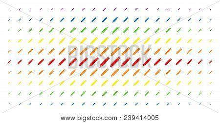 Edit Pencil Icon Spectrum Halftone Pattern. Vector Edit Pencil Pictograms Are Organized Into Halfton