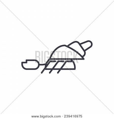 Hermit Crab Vector Line Icon, Sign, Illustration On White Background, Editable Strokes