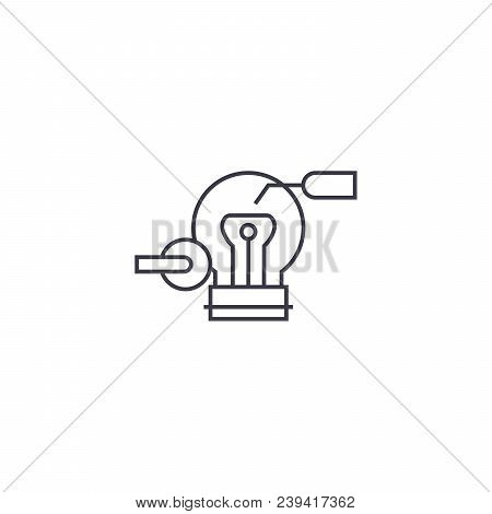 Innovator Vector Line Icon, Sign, Illustration On White Background, Editable Strokes