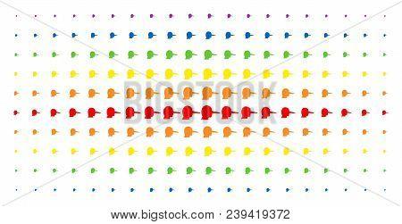 Lier Icon Spectrum Halftone Pattern. Vector Lier Symbols Are Arranged Into Halftone Array With Verti