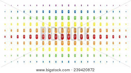Newborn Icon Spectrum Halftone Pattern. Vector Newborn Items Are Organized Into Halftone Array With