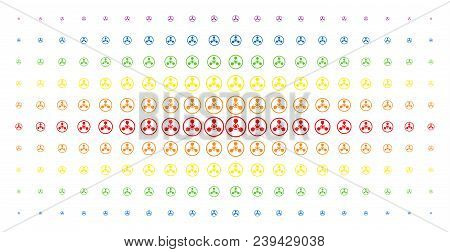 Wmd Nerve Agent Chemical Warfare Icon Spectrum Halftone Pattern. Vector Wmd Nerve Agent Chemical War