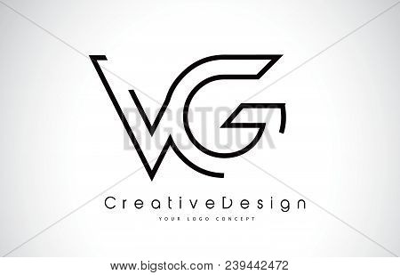 Vg V G Letter Logo Design In Black Colors. Creative Modern Letters Vector Icon Logo Illustration.