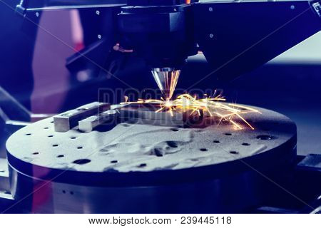 3d Metal Printer Produces A Steel Part. A Revolutionary Technology For Sintering Metal Parts. Soft F