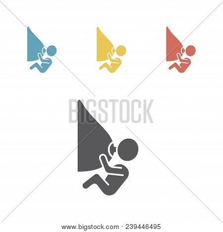 Breastfeed Icons. Vector Signs For Web Graphics.