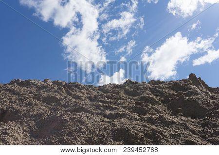 Rugged Mountain Against A Blue Sky. South Sinai Desert, Egypt