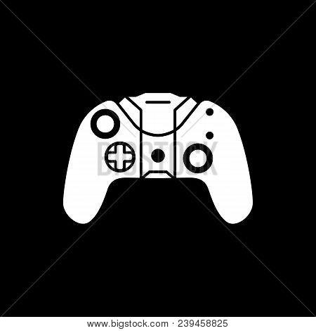 Remote Control Icon. Silhouette Remote Control Vector Icon For Web Design Isolated On Black Backgrou