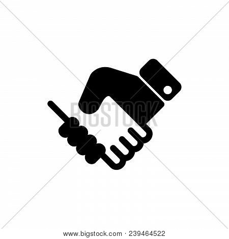 Handshake Icon Vector In Modern Flat Style For Web, Graphic And Mobile Design. Handshake Icon Vector