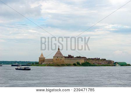Shlisselburg, Saint Petersburg, Russia - August 21, 2017: Pleasure Boat