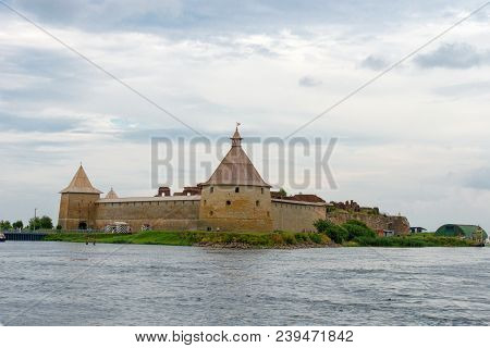 Fortress In The Source Of The Neva River, Russia, Shlisselburg: Fortress Oreshek. Medieval Russian D