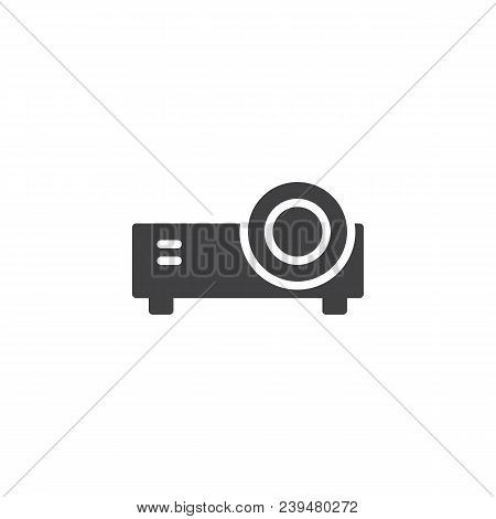 Projector Vector Icon. Filled Flat Sign For Mobile Concept And Web Design. Portable Projector Simple