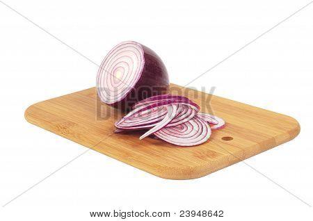 Chop onion and half of onion