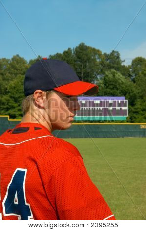 Ball Field And Baseball Player