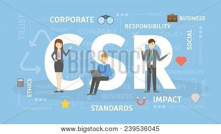 Csr Concept Illustration. Idea Of Responsibility And Social Life.