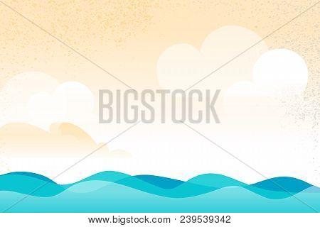 Open Water Scenario Background With Waves Flows