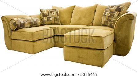 Sectional Sofa Group With Ottoman