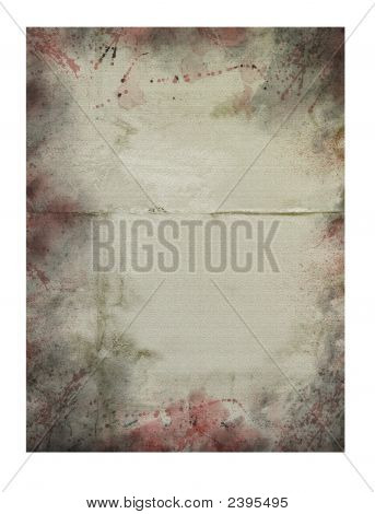 Paper Texture Background (Grunge With Blood)