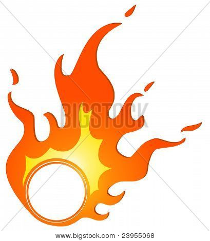 brennenden ring
