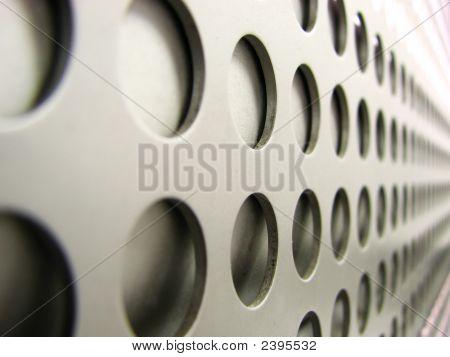 Metalic Mesh With Circular Holes