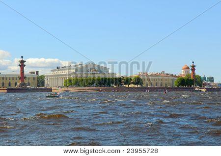 Russia, Saint-Petersburg, Arrow Vasilevsky Island