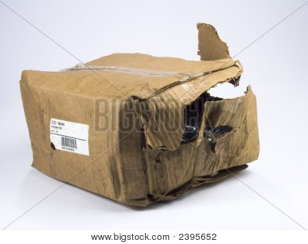 Destroyed Shipping Box