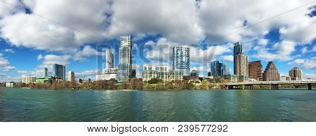 A Panorama Of The Austin, Texas, Skyline