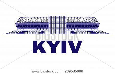 Football Stadium. Kyiv. Ukraine. Finale 2018. Football Champion League