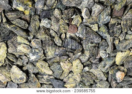 Small Gray-green Stones Of Heterogeneous Structure, Background